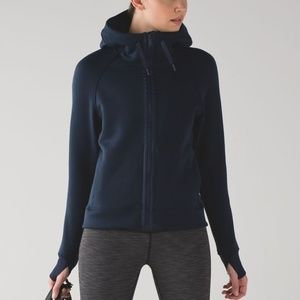 Lululemon Kick the Cold Hoodie Jacket Inkwell Blue